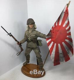 1/6 Bbi Custom Imperial Japanese Navy Marine Arisaka & Flag+stand Ww2 Dragon DID