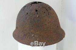 100% Original WW2 IMPERIAL JAPANESE HELMET RELIC BATTLE OF GUADALCANAL