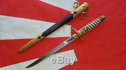 100% Original World War II Japanese Imperial Navy Officers Dink Dagger