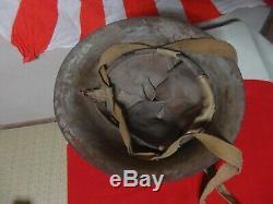 1941 Japanese World War II ww2 Imperial Navy Landing Helmet withliner Showa 16