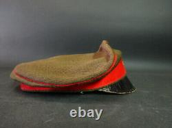 Antique Imperial Japanese Army WW2 World War II Military Cap Green Red with Visor