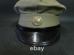 Antique Imperial Japanese Army WW2 World War II Military Cap Green with Visor