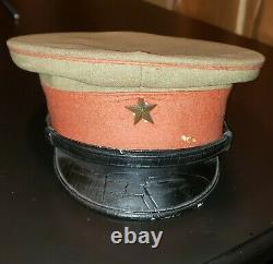 Antique Japanese World War 2 WW2 Imperial Japan Army Officer Hat Cap collectible