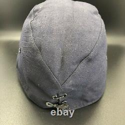 Authentic WWII Imperial Japanese Navy Hat Marked With Leather Band IJN Seaman
