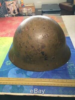 Authentic ww2 Japanese Imperial 1 Star Helmet War Bootty Original Signed WWII