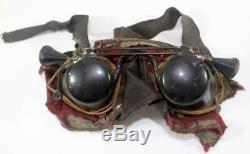 Exceedingly Rare WW II Imperial Japanese Navy Kamikaze Pilot Flip Down Goggles