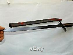 Imperial Japanese Army WW2 LATE WAR STRAIGHT QUILLON TYPE 30 ARISAKA BAYONET Vtg