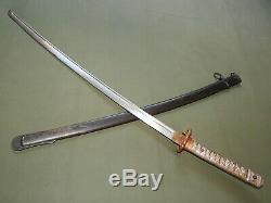 Imperial Japanese Army WW2 TYPE 95 NCO SWORD With MATCHING SCABBARD Vtg Saber RARE