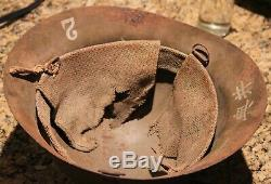Imperial Japanese WWII Helmet with Kanji characters