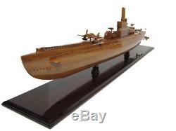 Japanese Imperial Navy I-400 Class WWII Sub Submarine Mahogany Wood Model New