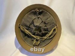 Japanese antique Original WW2 Imperial America Army U. S. Forces iron Helmet AM
