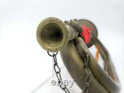 Military Trumpet WWII Japanese Antique Imperial Army Bugle