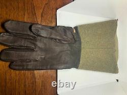 Mint Original WWII Imperial Japanese Army Motorcycle Leather Gloves