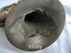 Original WW2 II Japanese Imperial Military Brass Bugle Trumpet Japan-c0615