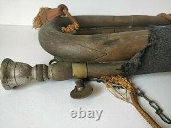 Original WW2 II Japanese Imperial Military Brass Bugle Trumpet Japan-d0901