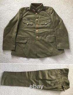 Original WW2 IJA Imperial Japanese Army Type 98 Officer Uniform Tunic & Pants