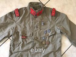Original WW2 IJA Imperial Japanese Army Type Summer Uniform Tunic Jacket Medals