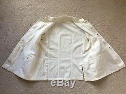 Original WW2 IJN Imperial Japanese Navy Type 2 Summer White Uniform Tunic Jacket
