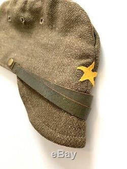 Original WW2 Imperial Japanese Army EM/NCO'S Wool Uniform Hat with Star, Complete