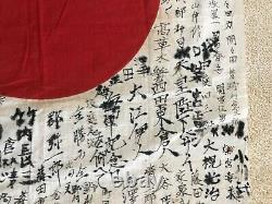 Original WW2 Imperial Japanese Flag, signed by many soldiers, size 31x28 inches