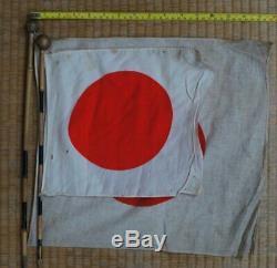Original WW2 Japanese Imperial propaganda flag 1940s Japan craft