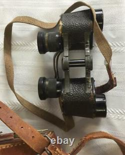 Original WWII Imperial Japanese Army Binoculars with Leather Case and Straps