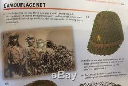 Original WWII Imperial Japanese Army Camoflage Field Cap Net Mint Medium Green