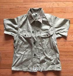 Original WWII Imperial Japanese Army Tropical Short Sleeve Shirt Mint MARKED
