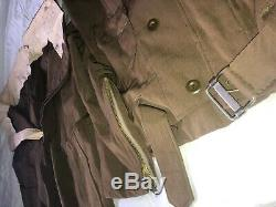 Original WWII Imperial Japanese Army pilot suit & fur lined gloves