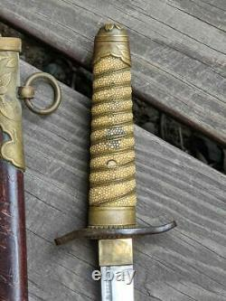 Original WWII Japanese Imperial Naval Dirk Late War Dagger Knife Excellent