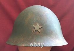Original WWII / WW2 Era Imperial Japanese Army T90 Combat Helmet Shell & Star