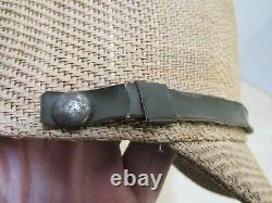 Original Ww2 Imperial Japanese Army Tropical Basket Weave Field Cap