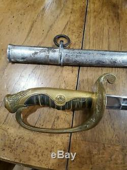RARE Imperial Japanese Army WW2 SUYA TOKYO OFFICER HAMON ETCHED PARADE SABER