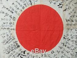 RARE Vintage WWII Imperial Japanese Flag Original Veteran Souvenir Estate Find