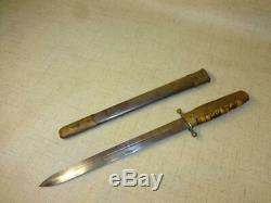 Rare Authentic Pre-wwii Japanese Imperial Navy Dagger Dirk Tortoise Shell Handle