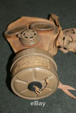 Rare Original WW2 Imperial Japanese Army Gas Mask with Well Marked Filter