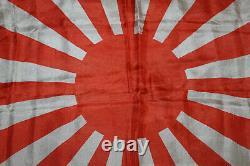 Rare Original WW2 Imperial Japanese Navy (IJN) Silk Battle Fla g, 36 by 24