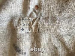 Rare Original WWII Imperial Japanese Navy Ship Canvas Deck Cover SASEBO