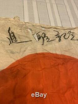 Rare Vintage WW2 Imperial JAPANESE Flag Original Veteran Souvenir