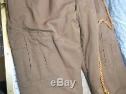 Rare WW2 Imperial Japanese Japan 2 Piece Fur Lined Pilot Flight Suit Pants 4A2