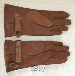 Rare and Mint Original WWII Imperial Japanese Army PILOT Leather Flying Gloves