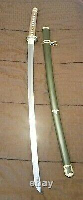 Ryujin Imperial Gunto WWII Repro Katana Sword with Certificate and Cleaning Kit
