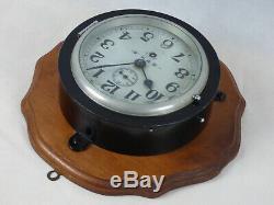 SEIKOSHA WWII Era Imperial Japanese Navy Ship Shipboard Wall Clock Japan