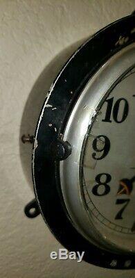 Seikosha Imperial Japanese Navy Ship's Clock Ww2 Battleship Submarine Clock
