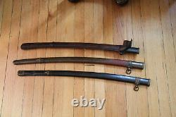Set of 4 WWII Imperial Japan Shin Gunto Katana scabbards