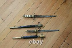 Set of Two WWII Imperial Japanese Naval Officers Dirk's Pattern
