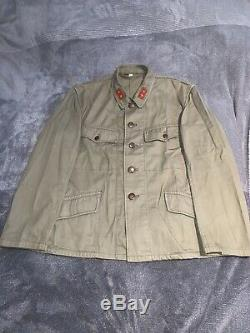 Very Rare WW2 Imperial Japanese Army Private 1st Class Cotton Uniform Set