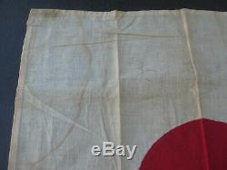 Vintage Imperial Japanese Army WW2 National Flag, Hand Sewn, Cotton, 18 Square
