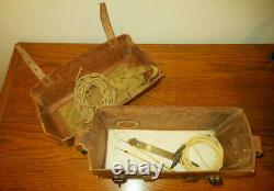 WW II Imperial Japanese Army TYPE 92 FIELD TRENCH PHONE with LEATHER CASE