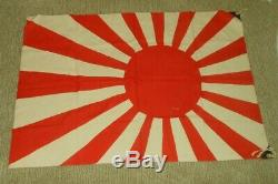 WW II Imperial Japanese Navy Army RISING SUN FLAG 25 x 37 VERY NICE